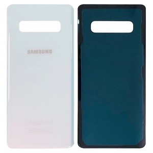 Samsung Galaxy S10 Plus G975 - Battery Cover with Adhesive Pearl White