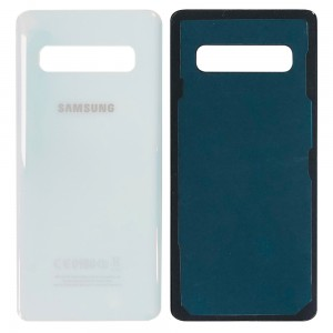 Samsung Galaxy S10 G973 - Battery Cover with Adhesive Pearl White