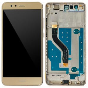 Huawei Ascend P10 Lite - Full Front LCD Digitizer Gold With Frame (FHD-W-U)