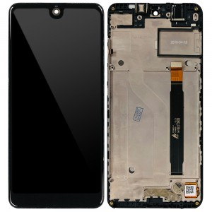 Wiko View 2 / View 2 Pro - Full Front LCD Digitizer with Frame Black