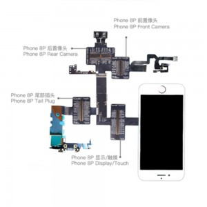 QIANLI TOOLPLUS IBRIDGE PCBA Testing Cable for Front Camera/Rear Camera/Dock Connector/Touch - iPhone 8 Plus