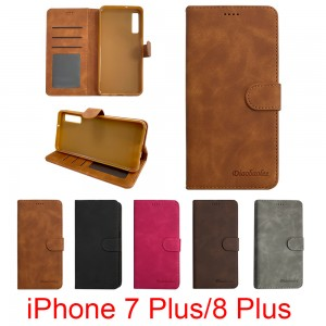 iPhone 7 Plus  / 8 Plus - Diaobaolee Wallet leather Case with 3 Card Slots