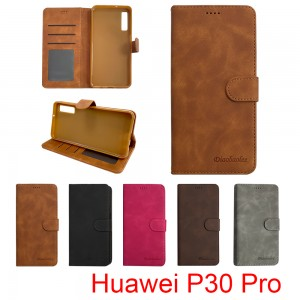 Huawei P30 Pro - Diaobaolee Wallet leather Case with 3 Card Slots