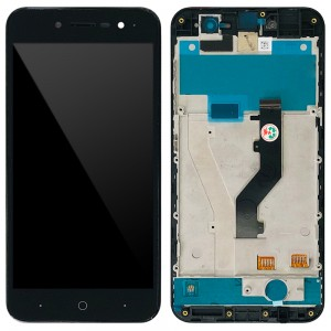 ZTE Blade A520 - Full Front LCD Digitizer With Frame Black