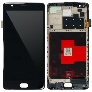 OnePlus 3 / 3T - Full Front LCD Digitizer With Frame Black