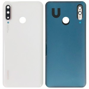 Huawei P30 Lite - Battery Cover Pearl White With Camera Lens