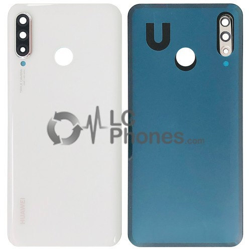 Huawei P30 Lite - Battery Cover Pearl White With Camera Lens (Version 24MP)