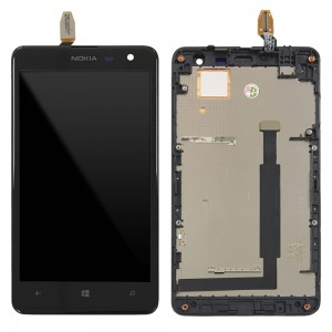 Nokia Lumia 625  - Full Front LCD Digitizer With Frame Black