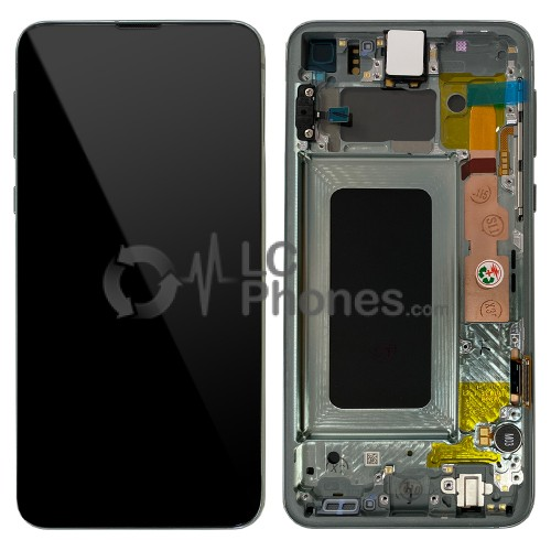 """Samsung Galaxy S10e G970F - Full Front LCD Digitizer With Frame Green """" Service Pack """""""