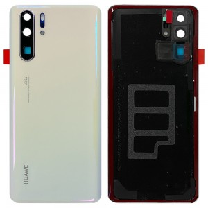 Huawei P30 Pro - Battery Cover Pearl White With Camera Lens