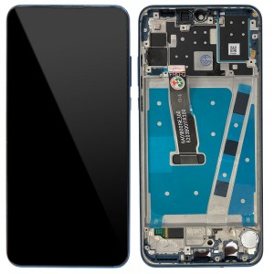 Huawei P30 Lite - Full Front LCD Digitizer with Frame Peacock Blue (Version 48MP)