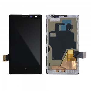 Nokia Lumia 1020 - Full Front LCD Digitizer With Frame Black