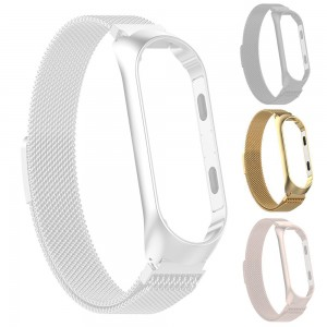 Xiaomi Smart Band 4 - Milanese Magnetic Loop Stainless Steel Watch Band Gold
