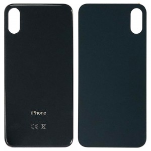 iPhone XS - Battery Cover with Big Camera Hole Black