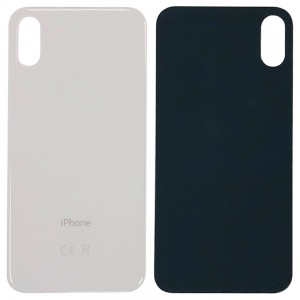 iPhone XS - Battery Cover with Big Camera Hole White