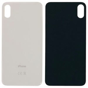 iPhone XS MAX - Battery Cover with Big Camera Hole White